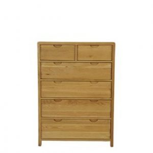 Bosco Six Drawer Tall Wide Chest