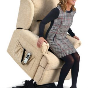 Malvern Small Fabric 'Lift & Rise' Recliner