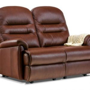 Keswick Petite Leather Fixed 2-Seater Settee