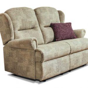 Malvern Small Fabric Fixed 2-Seater Settee