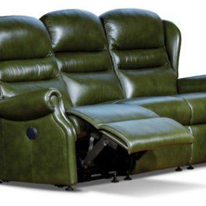 Ashford Standard Leather Reclining 3-Seater Settee