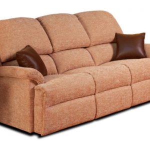 Lisbon Standard Fabric Fixed 3-Seater Settee