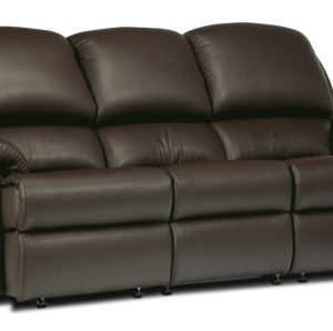 Lisbon Standard Leather Fixed 3-Seater Settee