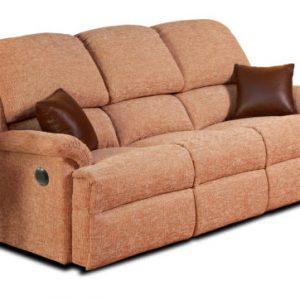 Lisbon Standard Fabric Reclining 3-Seater Settee