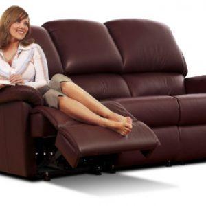 Lisbon Standard Leather Reclining 3-Seater Settee