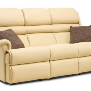 Comfi-Sit Standard Leather Fixed 3-Seater Settee