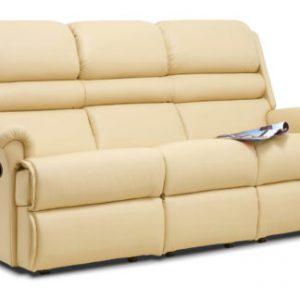 Comfi-Sit Standard Leather Reclining 3-Seater Settee